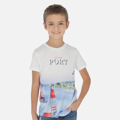 T-shirt blanc port Mayoral