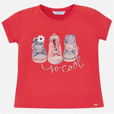 T-shirt rouge fille Mayoral