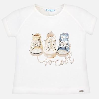 T-shirt blanc basket Mayoral