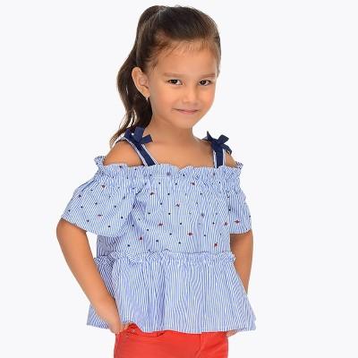 Blouse camisole rayée bleue pâle Mayoral