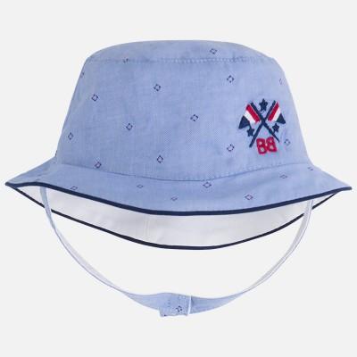 Chapeau reversible bleu/blanc Mayoral nouveau né à 9 mois