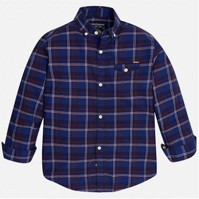 Chemise carreaux bleu/bourgogne Mayoral