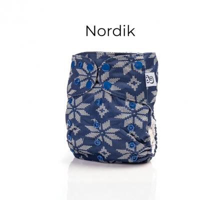 Couche lavable tout en un 2.0 Nordik Mme&Co (10-35 lbs)
