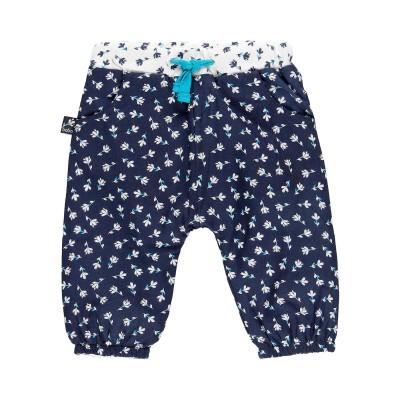 Pantalon motif fleur bleu Boboli