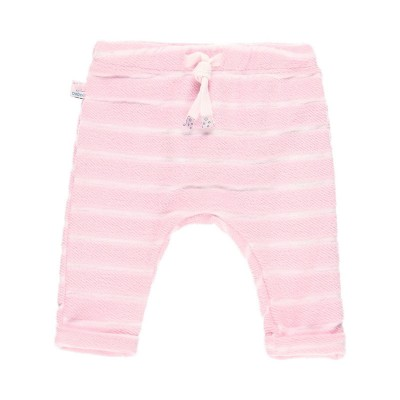 Pantalon rayé rose Boboli