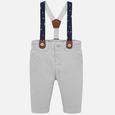 Pantalon gris acier bretelle Mayoral