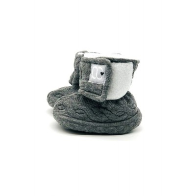 Pantoufle grise Bébé O Chaud (nouveau modèle)