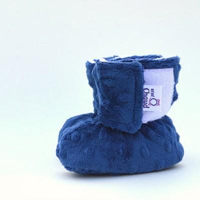 Pantoufle bébé O Chaud bleu foncé (0-6 mois)