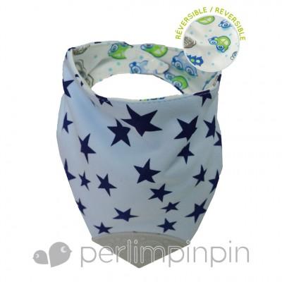 Bavoir dentition étoile bleu Perlimpinpin