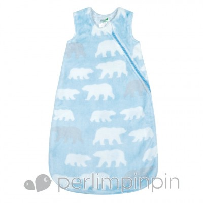 Sac nuit peluche ours polaire Perlimpinpin