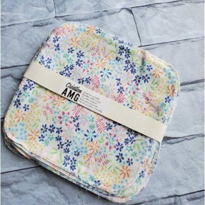 Lingettes lavables Petites fleurs AMG