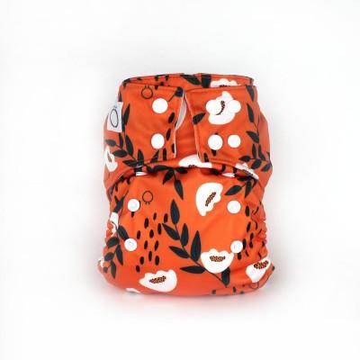 Couche lavable à poche Omaîki Bloom (8-40 lbs)