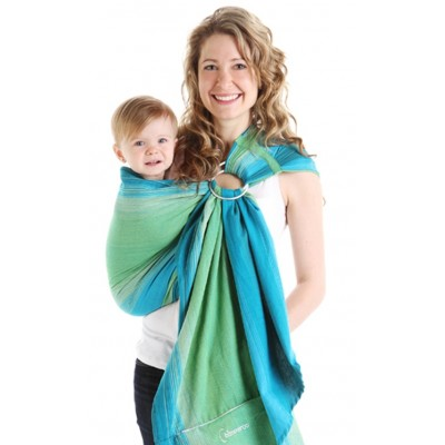 Écharpe de portage ajustable (ring sling) Lime Chimparoo