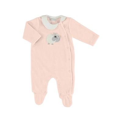 Pyjama bébé en velours rose baby Mayoral