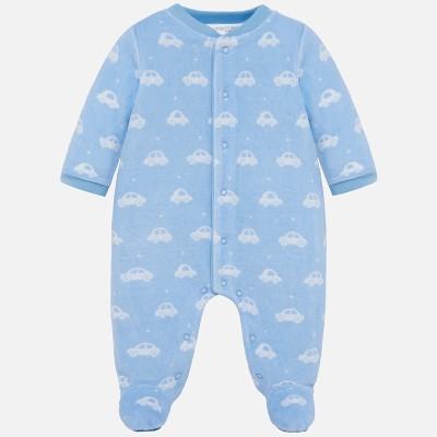 Pyjama en velours bleu motif auto Mayoral
