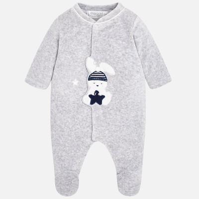 Pyjama velours gris/lapin Mayoral