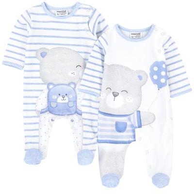Pyjama (2) blanc/bleu Mayoral