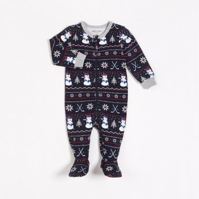 Pyjama une pièce marine jour de neige Petit Lem