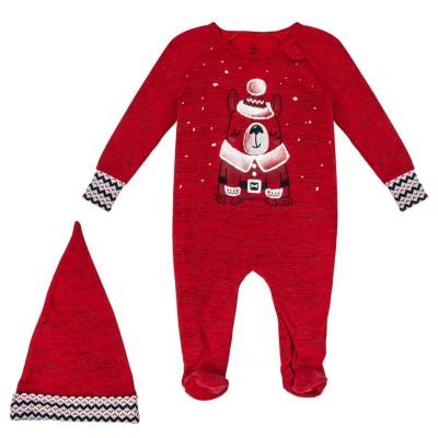 Pyjama rouge une pièce Petit Lem
