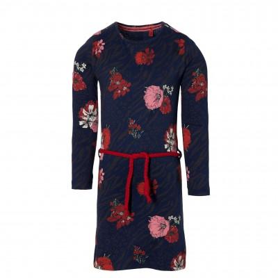Robe motif fleurs avec cordon Quapi