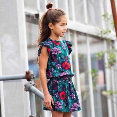 Robe motif fleur Quapi