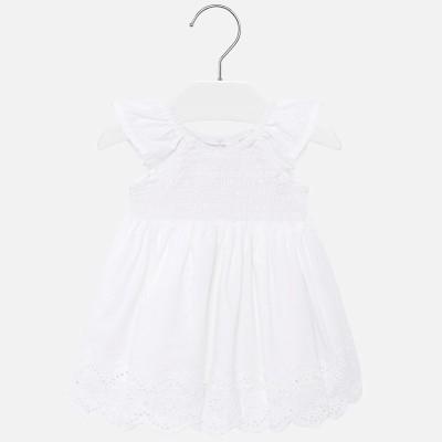 Robe blanche bébé Mayoral