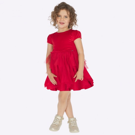 Robe tulle rouge Mayoral