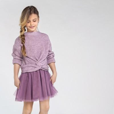 Robe tricot mauve Mayoral