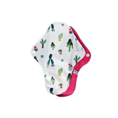 Serviettes hygiéniques lavables Protège dessous Cactus La Petite Ourse