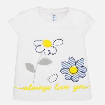 T-shirt bébé fleur Mayoral