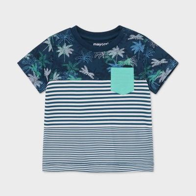 T-shirt palmiers er rayures Mayoral