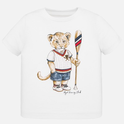 T-shirt  blanc ourson Mayoral