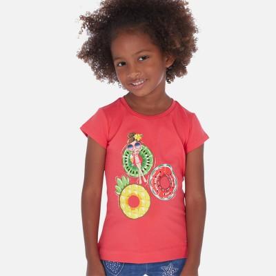 T-shirt corail pastèque Mayoral