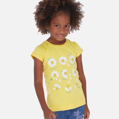 T-shirt jaune marguerite Mayoral