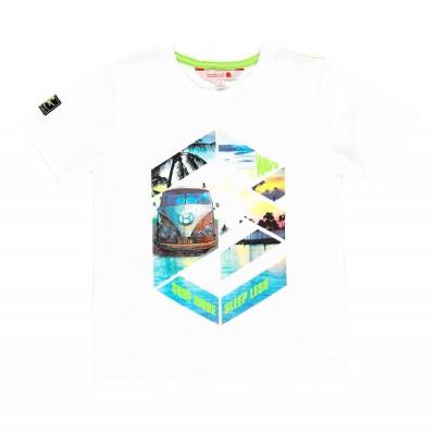 T-shirt blanc motif beach Boboli