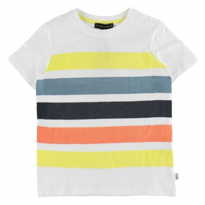 T-shirt blanc à rayure Silver