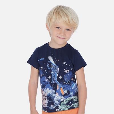 T-shirt glow in dark marine Mayoral