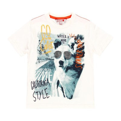 T-shirt blanc animaux Boboli