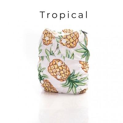 Couche lavable à poche 2.0  Tropical Mme&Co (10-35 lbs)