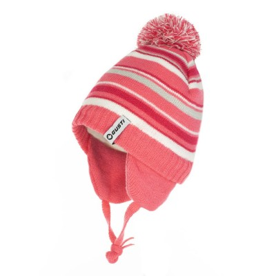 Tuque hiver rayée rose Gusti