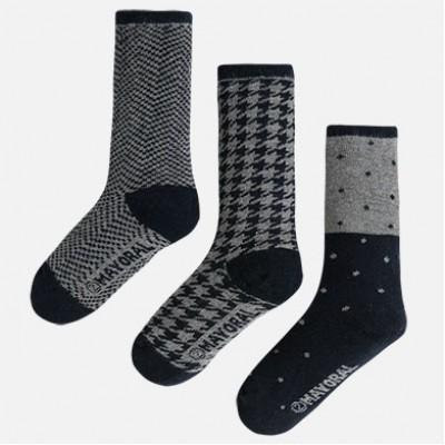 Bas (3) gris/noir 2 à 8 ans