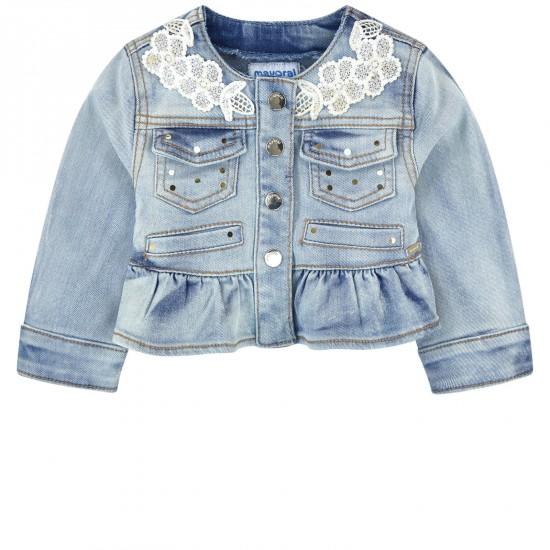 Veste en jeans délavé bébé Mayoral