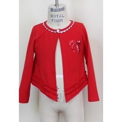 Cardigan rouge blü 2 à 6 ans